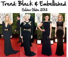 """""""Trend: Black & Embellished"""" by sunshineitgirl on Polyvore"""