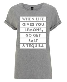 Summer outfit. When life gives you lemons, go get salt & tequila. Lemons as women t-shirt by LeDieg now on Juniqe.com | Art. Everywhere.