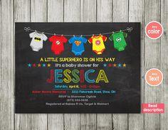 SUPERHERO BABY SHOWER Invitation Superhero By MaoPartyPrintables | Baby  Showers | Pinterest | Superhero Baby Shower, Shower Invitations And  Babyshower