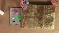 Demonstration by artist Nancy Reyner, on how to add subtle glazing color over gold or metal leaf, using acrylic paint. 15 minutes. This technique is…
