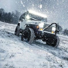 Take your Jeep out in the snow.