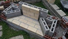 Image result for how to build an outdoor fireplace with cinder blocks