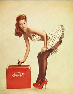 #Cocacola pin up