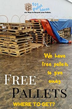 Where to Get Pallets? Free Pallets for Sale Near me Where to Get Pallets for Free? - Easy Pallet Ideas Where to Get Pallets? Free Pallets for Sale Near me Where to Get Pallets for Free? Pallet Furniture Designs, Wooden Pallet Projects, Wooden Pallet Furniture, Pallet Crafts, Diy Projects, Pallets For Sale, Free Pallets, Old Pallets, Recycled Pallets