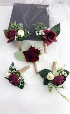 Excited to share the latest addition to my shop: Wedding Bouquets Bridal Bridesmaids Bouquets, Winter Wedding Bouquet, Blush Burgundy Bouquet, Boho Bouquet, Ivory Dahlia Boutonnieres, Groomsmen Boutonniere, Wedding Boutonniere, Winter Boutonniere, Red Bouquet Wedding, Floral Wedding, Burgundy Wedding Flowers, Bridal Bouquets, Quirky Wedding