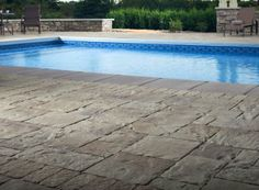 Swimming Pool Stone Decking - Swimming Pool Landscaping Ideas