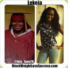 Lekeia lost 82 pounds