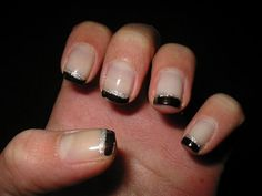 nail art black french manicure - Google Search