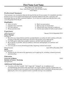 Choose From Over 20 Professionally Designed Free Resume Templates To Create  A Winning Job Application For