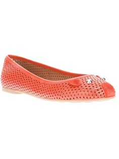 Marc By Marc Jacobs - perforated mouse ballet pump 1