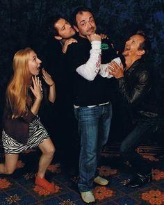 Mark Sheppard is my star of the day :) Sebastian's face is killing me! Misha is being...Misha. haha