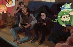 Thor and Loki bonding time Loki: Actually I rather like playing as the princess Daisy. But you are not wrong. Loki E Thor, Marvel Funny, Marvel Memes, Marvel Dc Comics, Marvel Avengers, Hela Thor, Avengers Quotes, Avengers Imagines, Avengers Cast