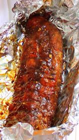 Inspired By eRecipeCards: Citrus Honey Garlic RIBS Smoked Ribs Actually on a Weber Kettle Grill - Grilling Time
