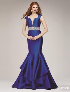 || Pure Couture Prom || Dress / Gown by Jovani Prom. Blue