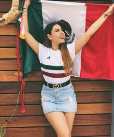 Skintight Dresses on Tight Bodies: Photo Skirt Outfits, Casual Outfits, Cute Outfits, Fashion Outfits, Soccer Game Outfits, Outfits For Mexico, Jersey Outfit, Graduation Photoshoot, Mexican Outfit