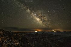 Milky way and lightning from North Rim  Picture saved with settings embedded.  Image credit: http://ift.tt/29mN80X Visit http://ift.tt/1qPHad3 and read how to see the #MilkyWay  #Galaxy #Stars #Nightscape #Astrophotography