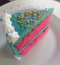 Slice of Shocking Pink Cake