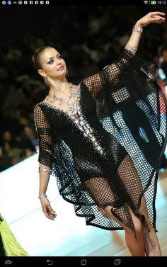 black leotard and netting dance dress