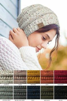 2e2adbd9507 CC Beanie Confetti Cable Knit Online Clothing Boutiques