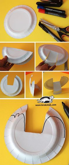 Papírový talíř slepice Paper Plate Crafts, Paper Plates, Abc Kids Tv, Diy And Crafts, Crafts For Kids, Chicken Plating, Chicken Crafts, Sewing Projects For Kids, Origami Paper