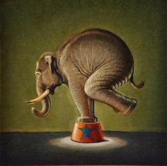 """""""Elephant"""" - Original Fine Art for Sale - © Robert LaDuke"""