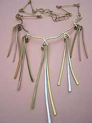 Lluvia Necklace - brass and...  from Cynthia Del