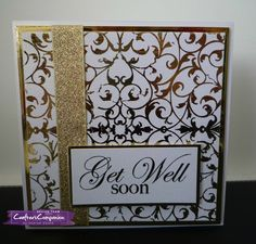 Card, made using Crafter's Companion foils and transfers. Made by Sharon Goold. #crafterscompanion