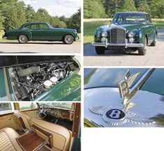 1962 BENTLEY S2 CONTINENTAL FLYING SPUR COACHWORK BY H.J. MULLINER  Chassis No. BC35LCZ Engine No. C34BC  Forest green with beige leather interior  Engine: V8, overhead valves, twin SU carburetors, 6,230cc; Gearbox: four speed automatic; Suspension: independent front by unequal length wishbones and coil springs, with opposed piston hydraulic dampers and torsion roll-bar, rear semi-elliptic springs with electrically controlled piston-type dampers and single radius rod; Brakes…
