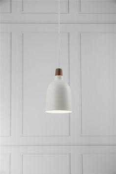 Conische hanglamp in wit glas of wit metaal 140mm diameter