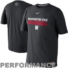 Nike Washington State Cougars Collegiate Baseball Performance T-Shirt #GoCougs
