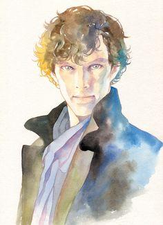 Sherlock by nekoshige Sherlock Holmes 3, Sherlock Holmes Benedict Cumberbatch, Sherlock Fandom, Benedict Cumberbatch Sherlock, Sherlock John, Sherlock Poster, Loki, Sherlock Drawing, Sherlock Wallpaper