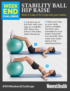 REPIN IF YOU'RE IN! #WHWeekendChallenge www.womenshealthmag.com/fitness/weekend-challenge-stability-ball-hip-raise?cm_mmc=Pinterest-_-womenshealth-_-content-fitness-_-weekendchallengeDec20
