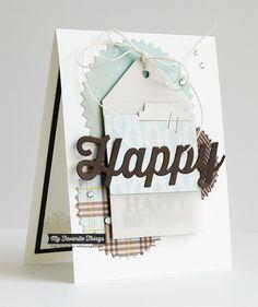 Celebrate You, Happy Die-namics, Pinking Edge Circle STAX Die-namics, Tag Builder Blueprints 1 Die-namics - Inge Groot #mftstamps