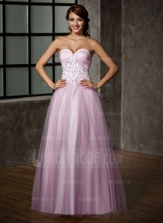 Prom Dresses - $191.99 - A-Line/Princess Sweetheart Floor-Length Satin Tulle Prom Dress With Lace (018005099) http://hochzeitstore.com/A-line-Princess-Sweetheart-Floor-length-Satin-Tulle-Prom-Dress-With-Lace-018005099-g5099