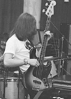 John Paul Jones on bass w organ & drum tom. RESEARCH #DianaDee - MUSIC STRINGS OF HISTORY - https://www.pinterest.com/DianaDeeOsborne/music-strings-of-history/ - Real name John Baldwin (born 1946). English musician songwriter & composer plays Bass guitar & keyboards for Led Zeppelin. Nicknames JPJ, Jonesy. List of Top 10 songs  for Led Zep shows how important he's been for success: Incl HOW MANY MORE TIMES' absolutely massive swinging bass line that Jones unleashes during track's opening…