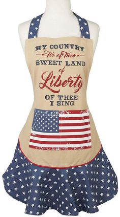'Sweet Land of Liberty' Apron