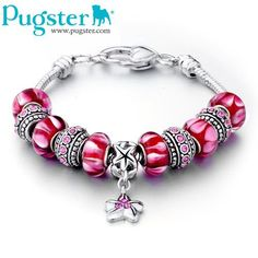 pandora red and pink valentine bracelet sweet!.....charms and the story they tell!