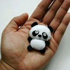 Панда из фетра