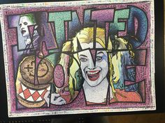 "Tribute to the song ""Tainted Love"" featuring Harley Quinn and The Joker from the Suicide Squad movie. My personal favorite from the last several months. Sharpie Drawings, Sharpie Art, Harley Quinn Drawing, Joker And Harley Quinn, Brothers Movie, Sell My Art, Colors For Skin Tone, Sharpie Markers, Love Drawings"