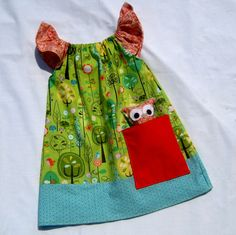 Woodland Pocket Dress with Owl Lovey. wish my girls were still little enough to wear this.