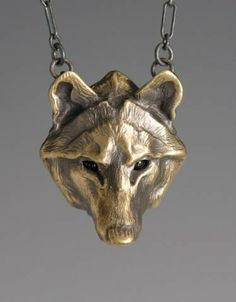 wholesale dealer d6528 c98f0 Timber Wolf Jewelry, Handcrafted Bronze Jewelry, Animal Totem Jewelry