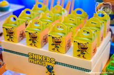 Cajas de Henry Monstruito Candy Minecraft, Bar, Mini, Crates, Party