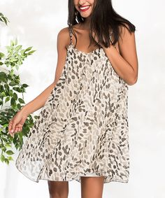 Swing into style with this breezy sleeveless dress boasting an eye-catching speckled print for a fun style you'll adore. Cool Style, My Style, Milan, Cold Shoulder Dress, Clothes, Stone, Kiss, Dresses, Eye