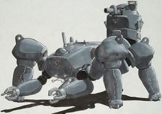ghost in the shell has some of my favourite mech designs.