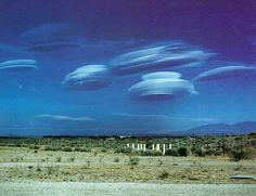 Space ship cloud formations