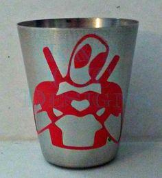 Deadpool Stainless Steel Shotglass by KTcncDesigns on Etsy https://www.etsy.com/listing/503679699/deadpool-stainless-steel-shotglass