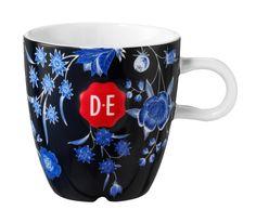 D.E Hylper cappuccinomok - donker blauw, dark blue  #mok #mug #coffee #HylperHeritage #DouweEgberts
