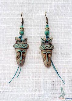 Tribal earrings ethnic earrings dangle earrings by esferajewelry, $15.00