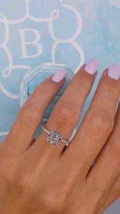 Cute Engagement Rings, Engagement Rings Cushion, Halo Diamond Engagement Ring, Tiffany Engagement Rings, Different Engagement Rings, Engagement Nails, Tiffany Wedding Rings, Engagement Sets, Engagement Ring Settings