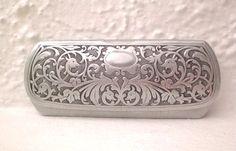 Antique Aluminum Eyeglass Case Germany by GallivantsVintage
